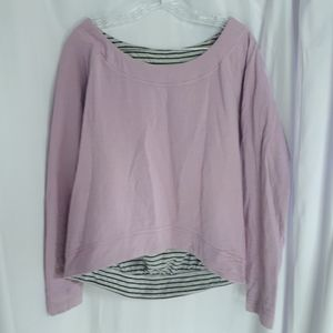 Lululemon rare pink grey striped pullover